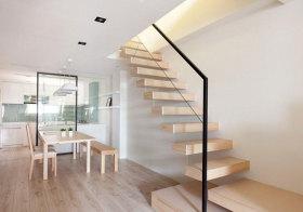 简约原木楼梯美图