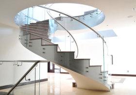 现代唯美旋转楼梯美图
