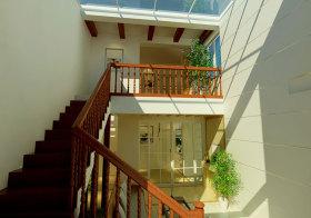 美式露天楼梯实景