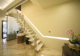 现代玻璃楼梯实景