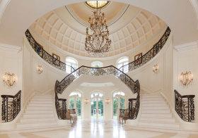 欧式奢华双向楼梯美图