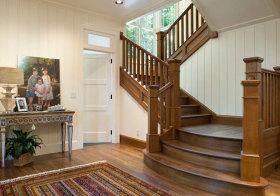 美式木质楼梯美图