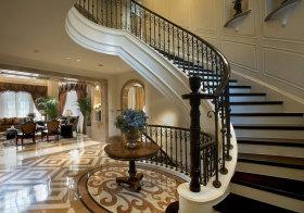 欧式弧形楼梯美图