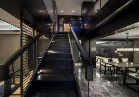 现代黑色楼梯细节