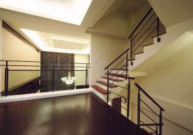 现代铁艺楼梯实景