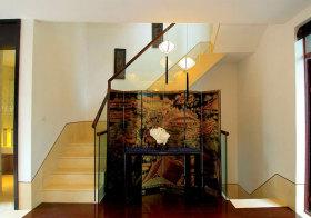 中式复古楼梯实景