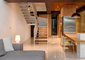 现代原木楼梯设计