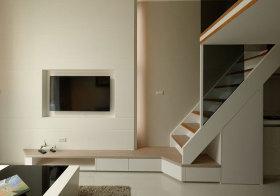 简约白色楼梯设计