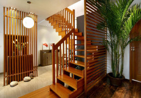 中式木质楼梯美图