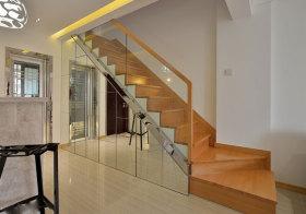 现代原木楼梯效果图