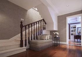 美式浅灰楼梯美图