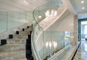 美式奢华大理石楼梯美图