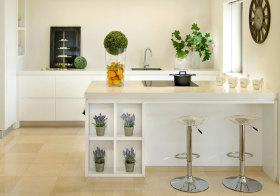 现代植物吧台细节