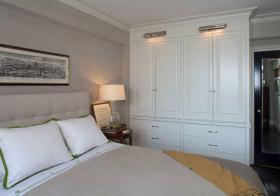 美式白色衣柜设计