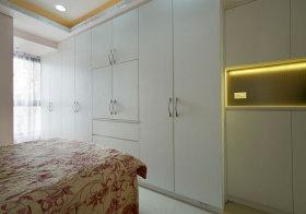 中式白色衣柜细节
