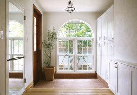美式拱形玄关设计