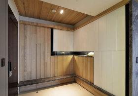 现代原木拼接玄关设计