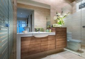 现代木质浴室柜美图