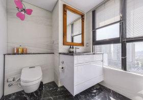 简欧白色浴室柜设计