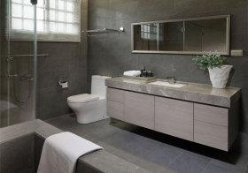 现代灰色浴室柜美图