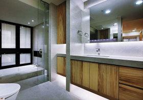 日系原木浴室柜美图