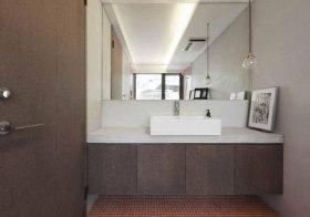 宜家褐色浴室柜设计