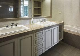 美式方框浴室柜欣赏