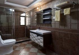 混搭凹凸浴室柜设计