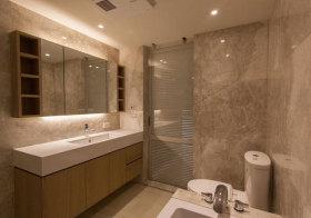 简约淡黄色浴室柜欣赏