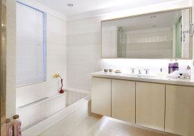 简约纯白浴室柜美图