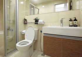 现代传统浴室柜实景