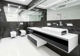 现代黑白浴室柜美图