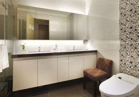 现代白色浴室柜欣赏