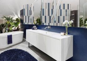 混搭蓝色浴室柜美图鉴赏