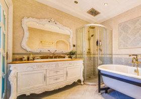 欧式雕花浴室柜设计
