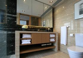 简约大理石浴室柜美图
