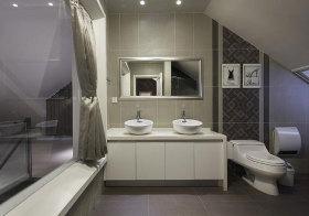 简约阁楼浴室柜美图