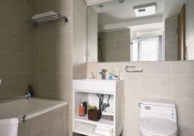 现代浴室柜实拍细节