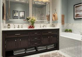 美式唯美浴室柜美图鉴赏