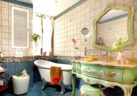 东南亚彩色浴室柜欣赏