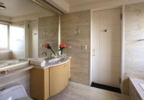 现代弧形浴室柜设计