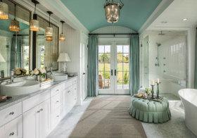 美式可爱浴室柜美图鉴赏