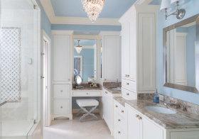 美式天蓝浴室柜美图鉴赏