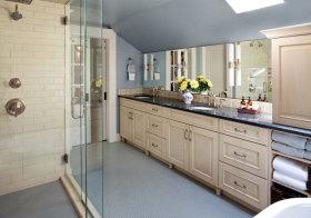 美式复古阁楼浴室柜欣赏