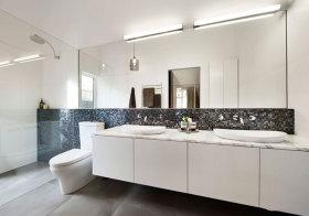 简约纯色浴室柜设计