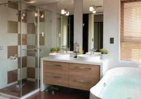 简约木质浴室柜设计