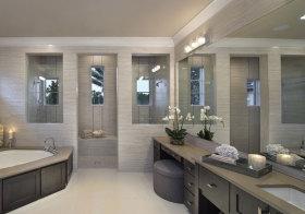 东南亚浅灰浴室柜美图