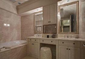 美式石凳浴室柜欣赏