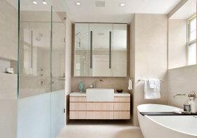 简约条纹浴室柜欣赏