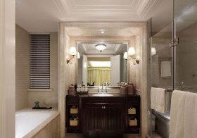 美式镂空浴室柜设计